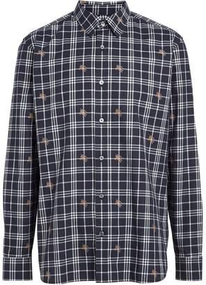 Burberry Fil Coupé Check Cotton Shirt