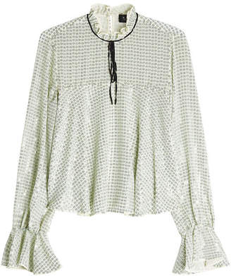 Saloni Sequin-Embellished Blouse