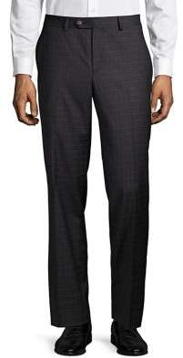 Lauren Ralph Lauren Stripe-Check Wool Dress Pants