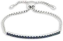 Effy Sapphire Bar Sterling Silver Bracelet