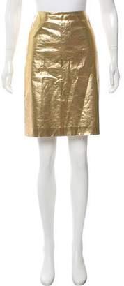 Simone Rocha Coated Metallic Skirt