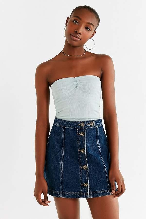 BDG Horn-Button Denim Mini Skirt