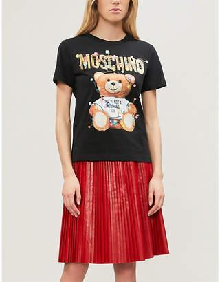 Moschino Teddy-print cotton-jersey T-shirt