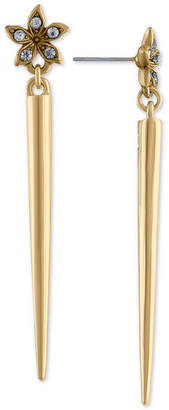Rachel Roy Gold-Tone Pave Flower & Spike Linear Drop Earrings
