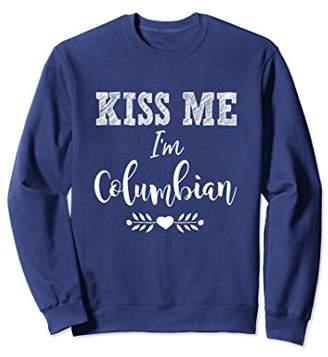 Columbia Kiss Me I'm Columbian Cute Heritage Sweatshirt Gift