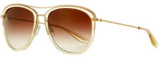 Barton Perreira Aviatress Universal-Fit Aviator Sunglasses