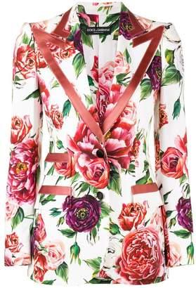 Dolce & Gabbana peony print blazer