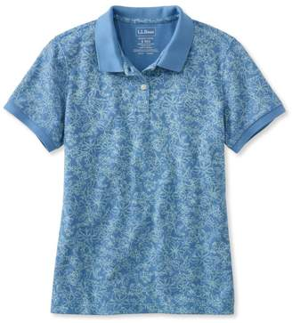 L.L. Bean L.L.Bean Premium Double L Polo, Slightly Fitted Floral