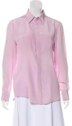 Veronica Beard Silk Long Sleeve Top