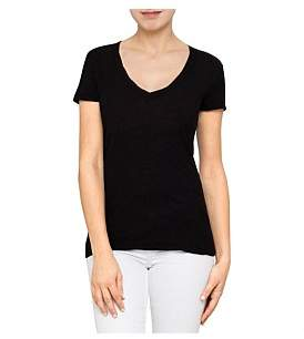 James Perse Casual Tee With Reverse Binding