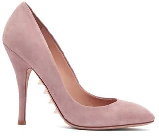 Valentino Killer Studs Suede Pumps - Womens - Light Pink
