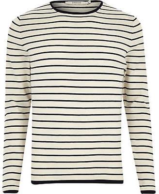 River Island Jack and Jones grey knit stripe sweater