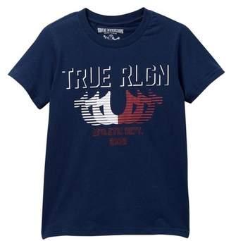 True Religion Striped Horseshoe Tee (Little Boys)