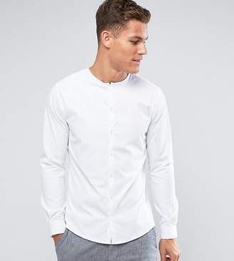 Noak Collarless Skinny Shirt