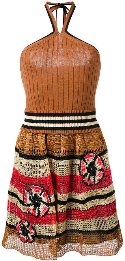 RED ValentinoRed Valentino knit halterneck dress