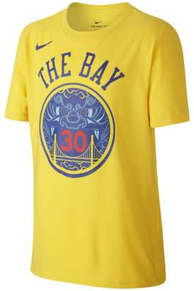 Nike Golden State Warriors City Edition (Stephen Curry Dri-FIT Older Kids'(Boys') NBA T-Shirt