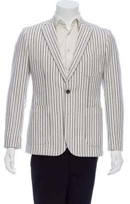Hardy Amies Striped Poplin Blazer w/ Tags