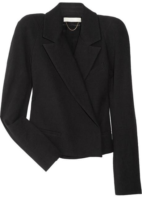 Vanessa Bruno Strong-shouldered cotton-blend jacket