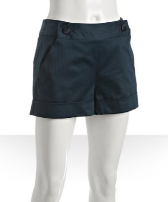 Marc by Marc Jacobs midnight teal shadow striped cuffed shorts