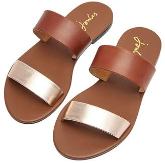 21d29c18a6a8c Joules Womens Fenthorpe Two Strap Leather Sandal - Brown