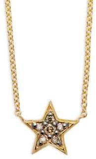 KC Designs Champagne Diamond & 14K Yellow Gold Star Necklace