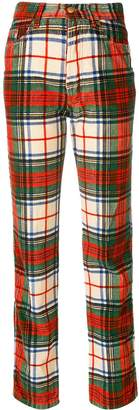 Jean Paul Gaultier Pre-Owned corduroy plaid trousers