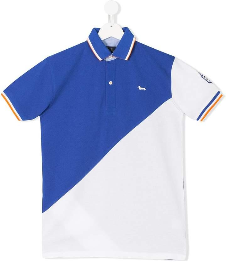 Harmont & Blaine Junior TEEN color block polo shirt