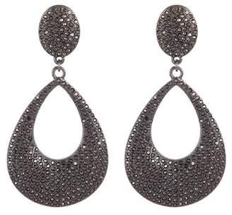 BaubleBar Davia Pave Hoop Dangle Earrings