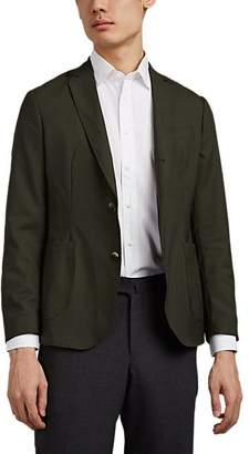 Brooklyn Tailors BROOKLYN TAILORS MEN'S WORSTED WOOL TWO-BUTTON SPORTCOAT - DK. GREEN SIZE 5