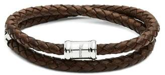 Miansai - Casing Braided Leather Bracelet - Mens - Brown Multi