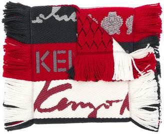 Kenzo fringed stripe scarf