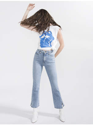 Alice + Olivia Fabulous High Rise Baby Bootcut Jean