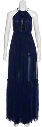Derek Lam Silk Halter Maxi Dress
