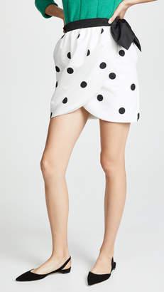 Cynthia Rowley Polka Dot Tulip Wrap Skirt