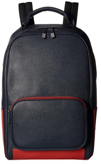 BugatchiBUGATCHI Semi Embossed Leather Backpack