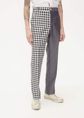 Thom Browne Unconstructed Gingham Mix Trouser