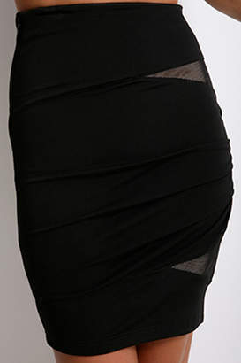 Alexander Wang Fitted Skirt with Lace Cutouts