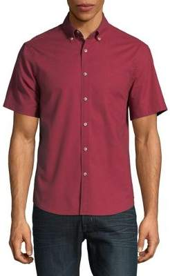Black & Brown Black Brown Slim-Fit Short-Sleeve Shirt