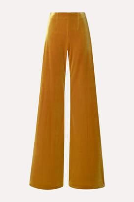 Galvan Winter Sun Velvet Wide-leg Pants - Saffron