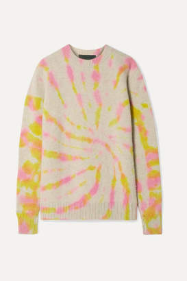 The Elder Statesman Tie-dye Cashmere Sweater - Beige