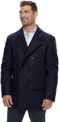 Chaps Men's Classic-Fit Wool-Blend Double-Breasted Peacoat