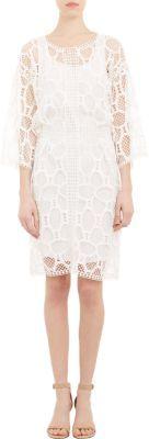 Chloé Tennis Racket Guipure Lace Dress