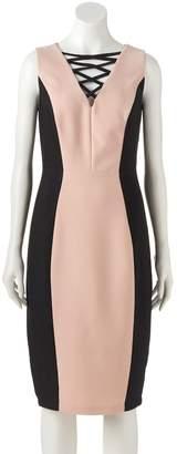 Jax Women's Colorblock Lace-Up Sheath Dress