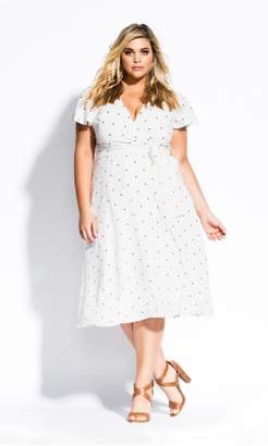 City Chic Citychic Sweet Doll Dress - ivory
