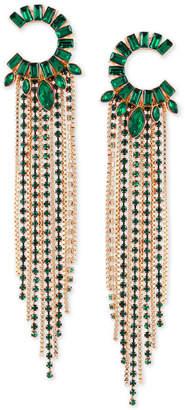 GUESS Crystal Fringe Chandelier Earrings
