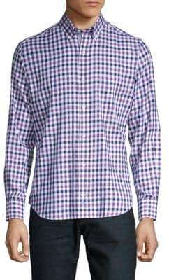 Tailorbyrd Danner Gingham Button-Down Shirt