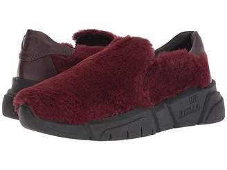Love Moschino Faux Fur Slip-On Sneaker