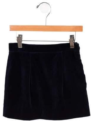 Papo d'Anjo Girls' Velvet Skirt