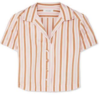 Frame Striped Jacquard Top - Orange