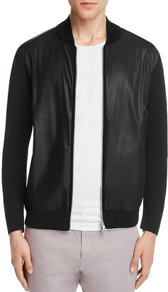 Theory Mixed Media Bomber Jacket $345 thestylecure.com